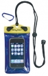 "DRY PACK CELL PHONE, GPS, MP3 CASE 4"" x 6"" YELLOW/BLUE"
