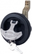 T  HANDLE FLUSH LOCK-BLACK
