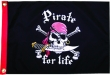 PIRATE FOR LIFE 12X18 FLAG