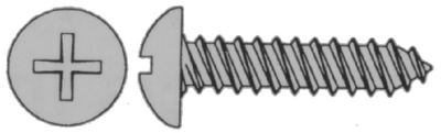 TORNILLO PHILLIPS AUTOROSCANTE ACERO INOXIDABLE 18-8 254mmx51mm CABEZA PAN