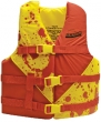 RED/YEL DLX YOUTH VEST 24 -29